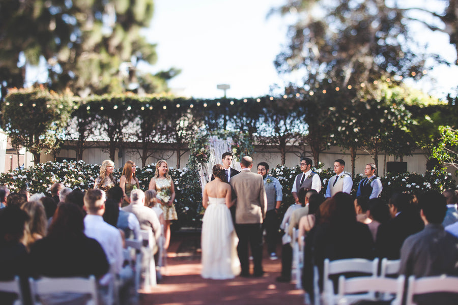 Outdoor wedding ceremony | La Jolla, California | Jessica Miriam Photography