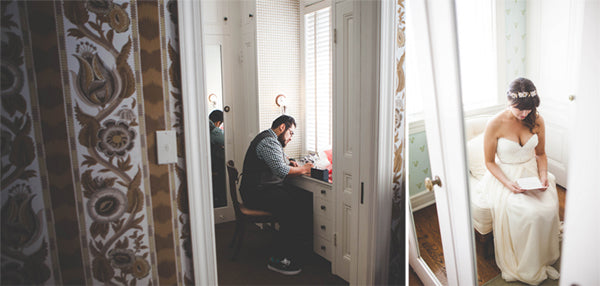 The Bride and Groom take a private mment to exchange letters before seeing each other |  Jessica Miriam Photography