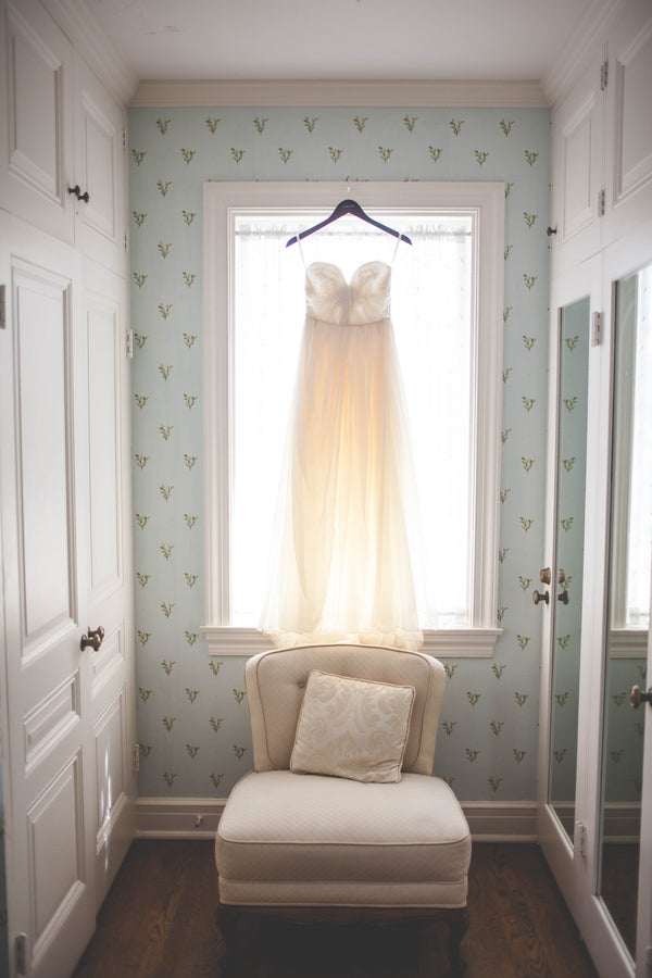 Wedding Gown in the Window |  Jessica Miriam Photography