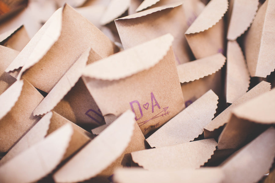 Custom Wedding Favor Bags | Jessica Miriam Photography