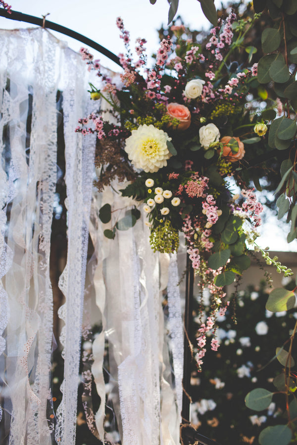 Lace Wedding Ceremony Arch | Jessica Miriam Photography