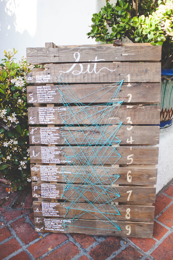 String Seating Chart | La Jolla Wedding | Jessica Miriam Photography