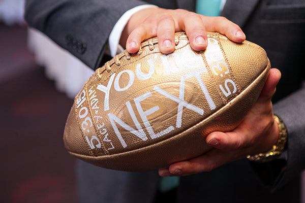 You're Next Football Instead of Garter Toss | Wes Roberts Photography