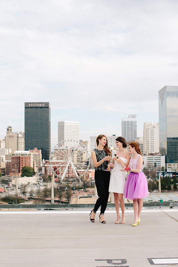 Gem Inspired Bridesmaid Luncheon Skyline of Atlanta - Lauren Carnes Photography