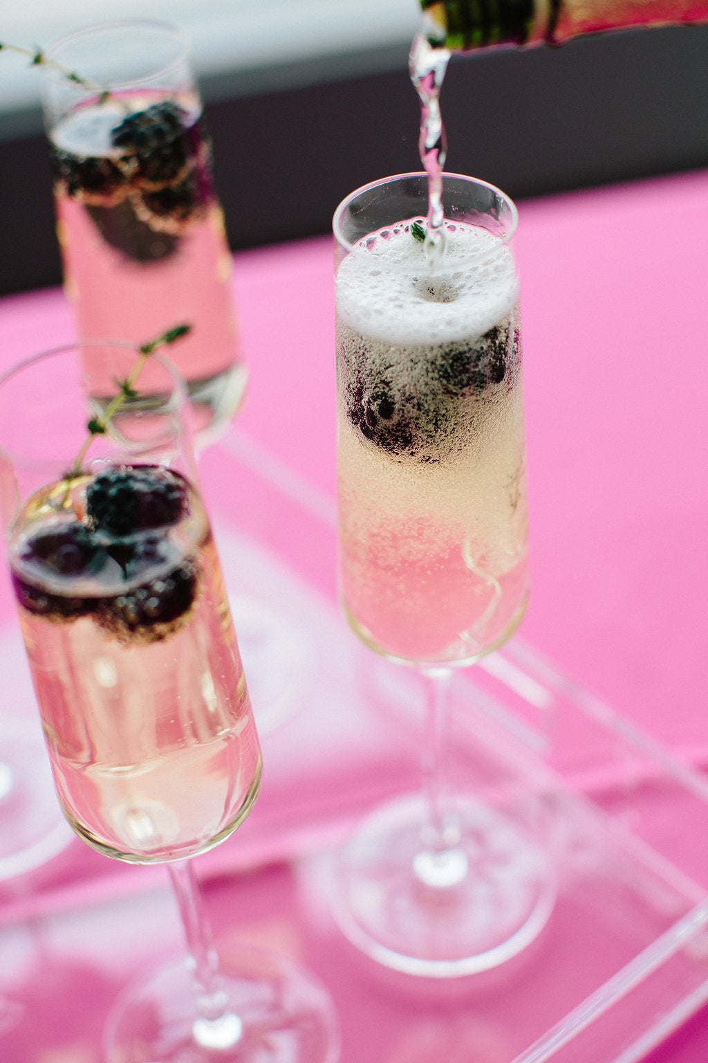 Gem Inspired Bridesmaid Luncheon Champagne Cocktails - Lauren Carnes Photography
