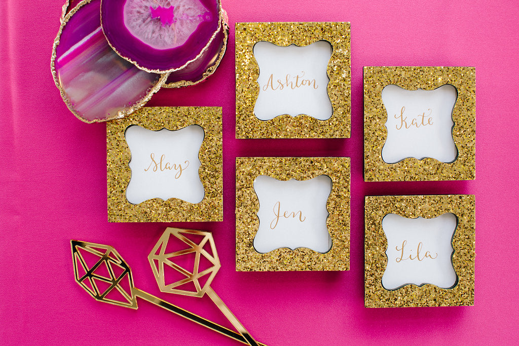 Gem Inspired Bridesmaid Luncheon Place Card Holders by Kate Aspen - Lauren Carnes Photography