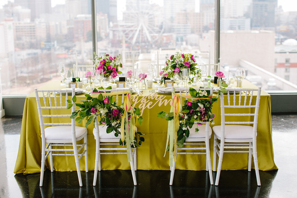 Gem Inspired Luncheon Green and Pink Table - Lauren Carnes Photography