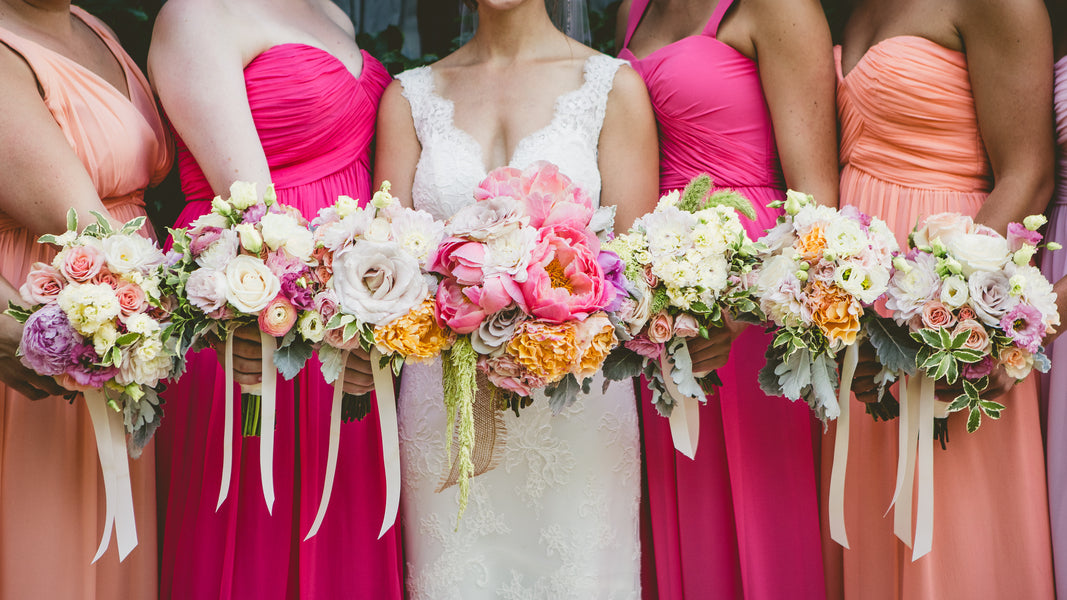 Bright Bouqets and Dresses | A Happy and Bright Garden Wedding | Kate Aspen