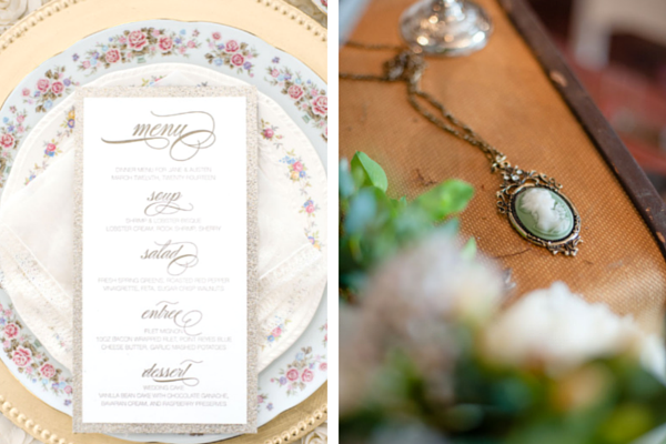 English Garden Wedding Table Setting and Cameo | Anya Albonetti Photography