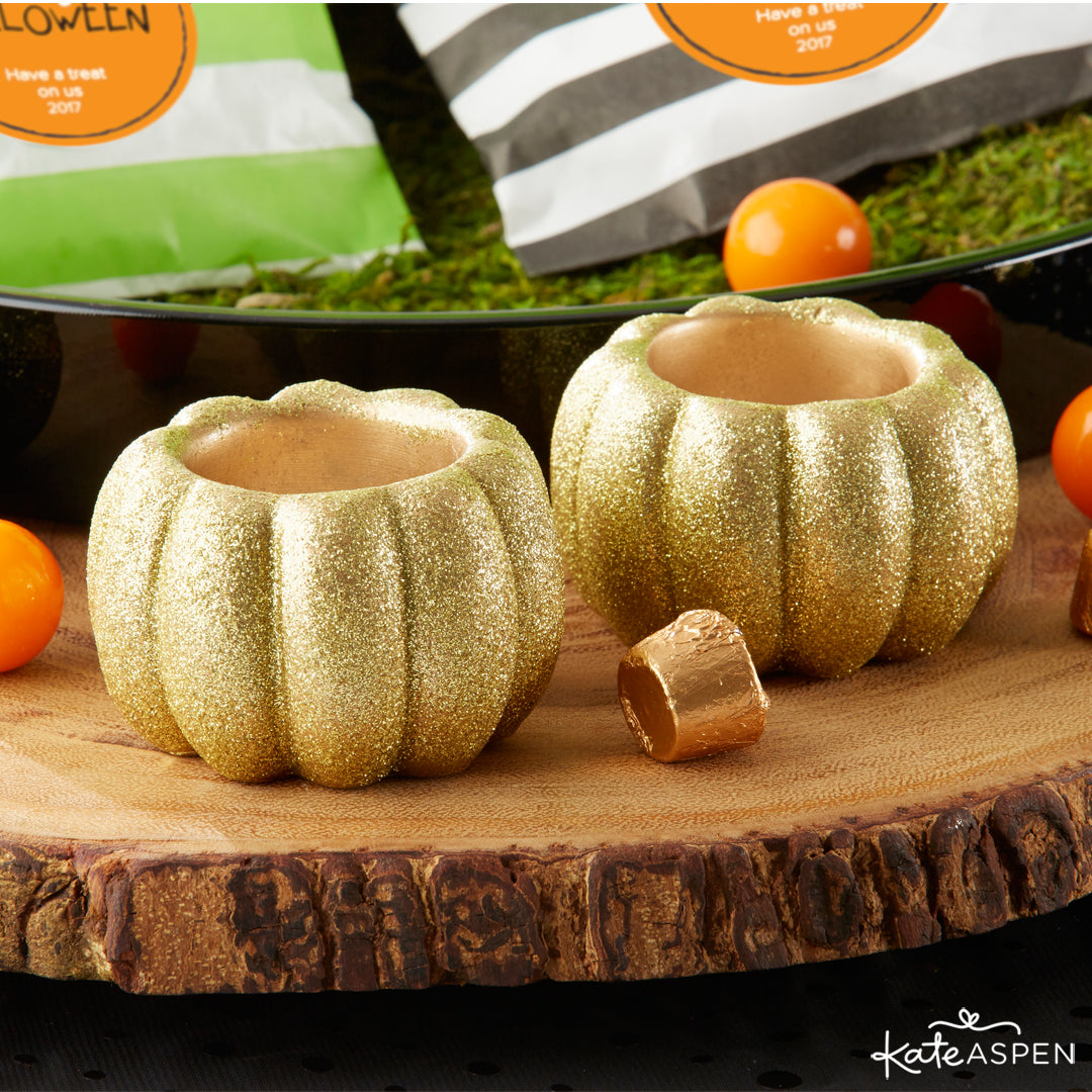 Glitter Pumpkin Votives | Halloween Party Pack Giveaway | Kate Aspen