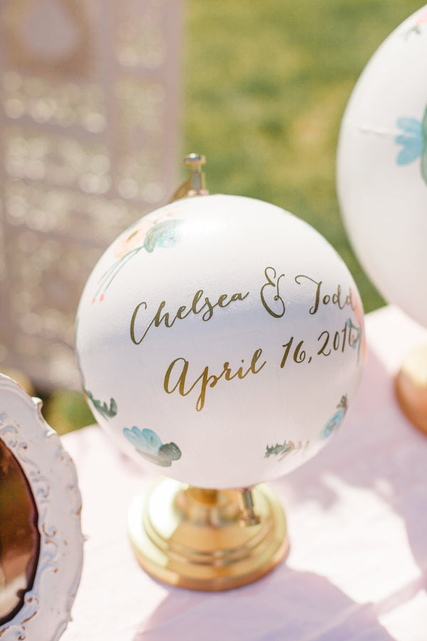 Globe | A Shabby-Chic Charleston Wedding | Kate Aspen