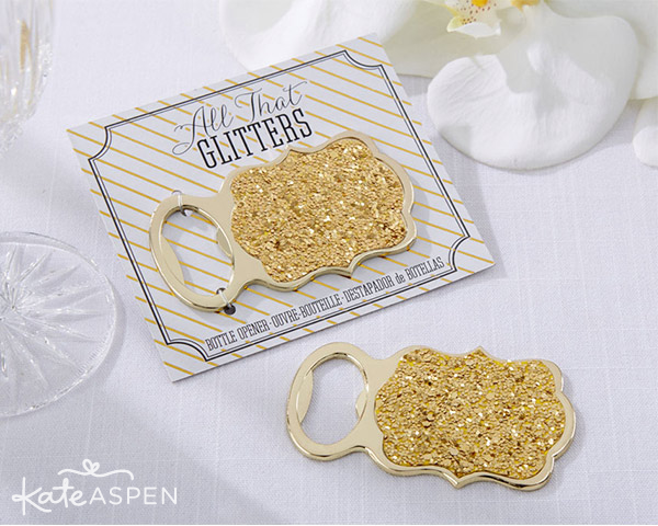 Gold Glitter Bottle Opener - Kate Aspen