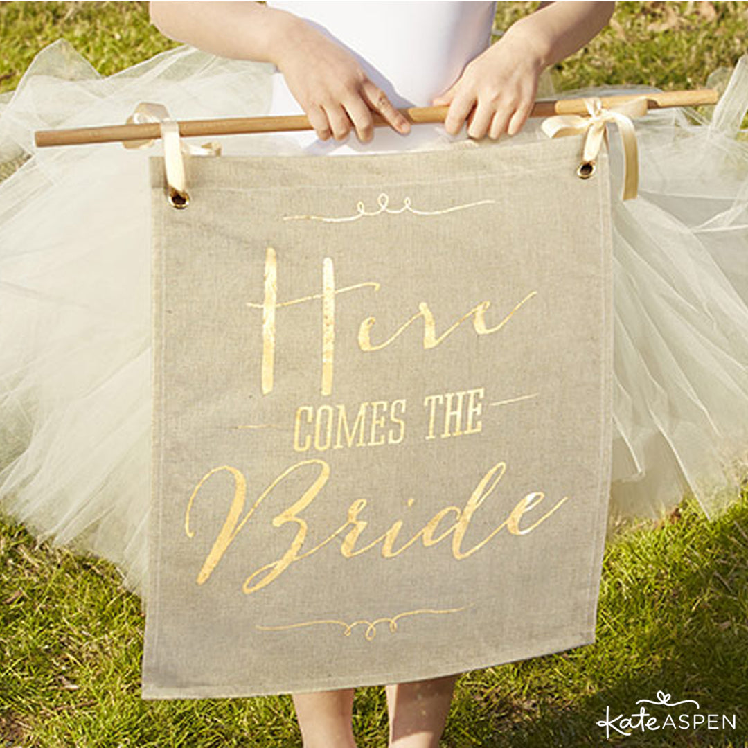 Here Comes the Bride Sign | Kate Aspen
