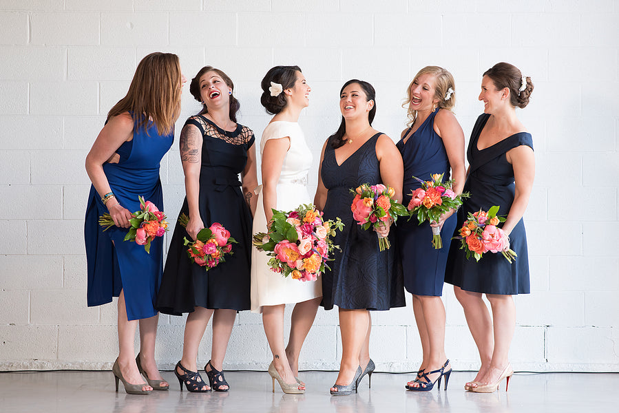 Bridal Party | An Unforgettable Night Wedding in the City | Kate Aspen