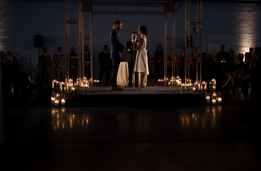 Candlelit Ceremony | An Unforgettable Night Wedding in the City | Kate Aspen