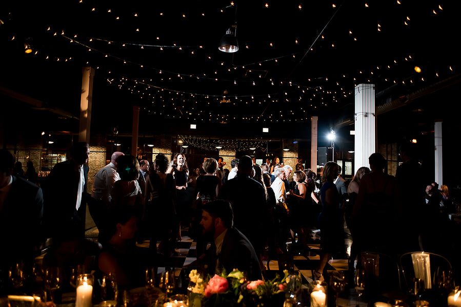 String Lights | An Unforgettable Night Wedding in the City | Kate Aspen