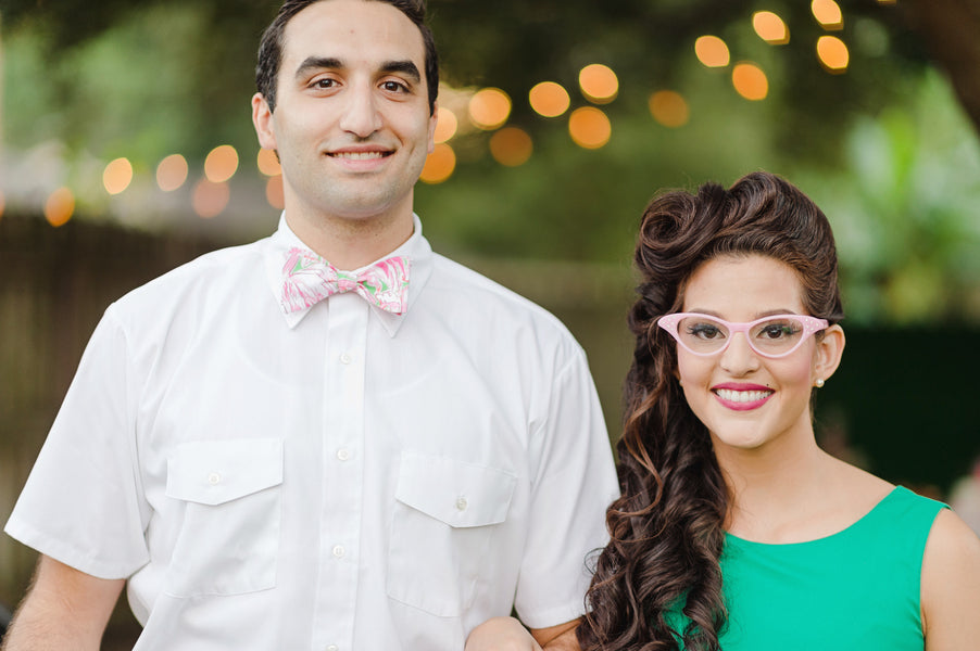 Retro Engagement party attire  for a 1950s look| Two Prince Bakery Theater | Marc Edwards Photographs