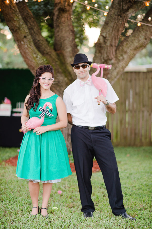 Flamingo themed engagement party | Two Prince Bakery Theater | Marc Edwards Photographs