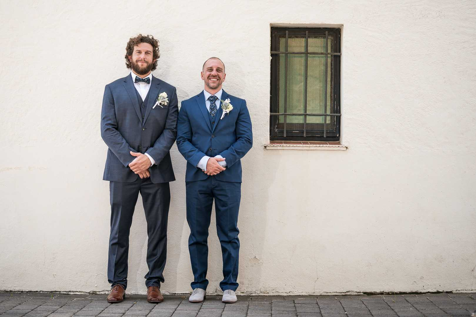 Groom and Best Man | A Coastal Spanish Wedding in Costa Brava | Kate Aspen