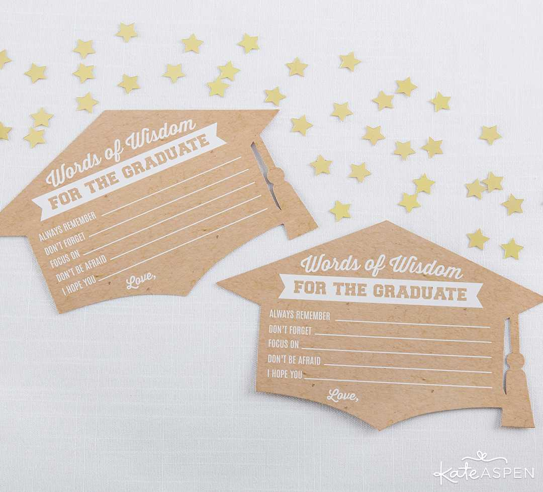 Graduation Advice Card Cap | 2019 Fun Graduation Gifts, Favors, and Decor | Kate Aspen