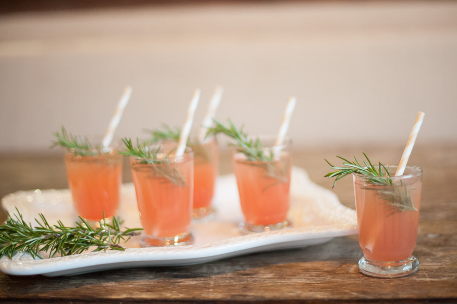 Signature Grapefruit Cocktails  | Gorgeous Garden Wedding Shoot | Leslie Ann Photography | @kateaspen