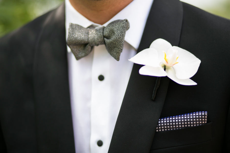 Broom's Bow Tie and Boutonniere | Pink Traditional Orthodox Greek Wedding | Kelly Brown Weddings