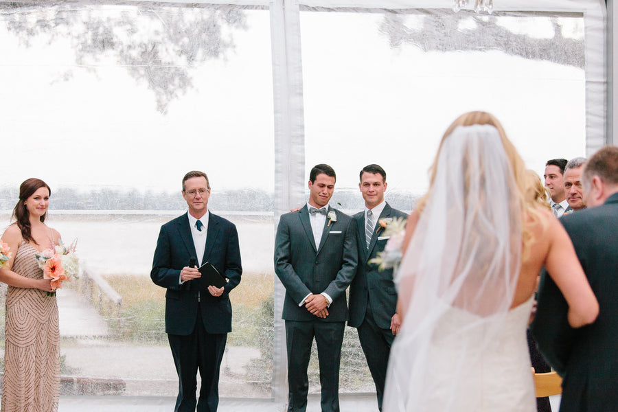 Groom Crying | Charleston Wedding | Riverland Studios