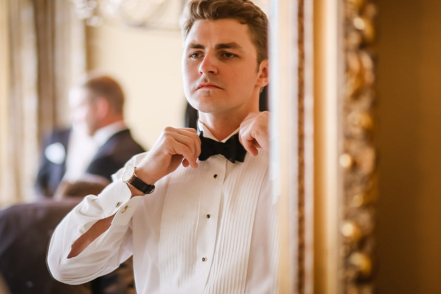 Groom Getting Ready | Blush and Gold Wedding | Asteria Photography