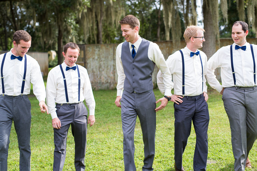 Groom with Groomsmen | Whimsical Rustic Barn Wedding | McKenzie Stewart Weddings