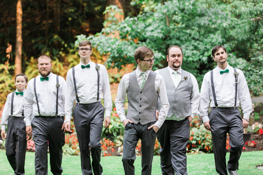 Groom With Groomsmen | Blissful Garden Wedding Details | B. Jones Photography