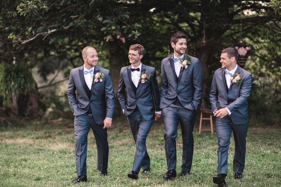 Groom With Groomsmen | Details For The Perfect Floral Wedding | Kate Aspen