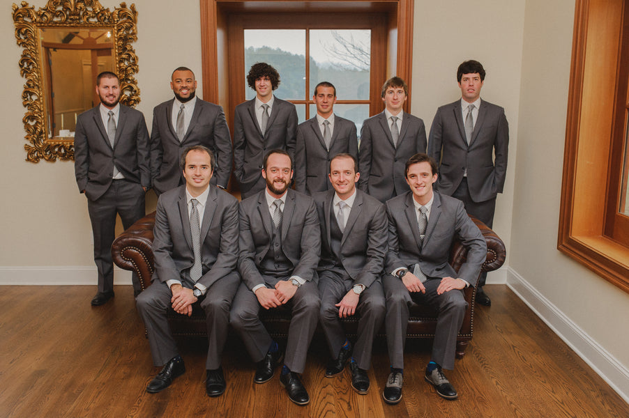 Groom and Groomsmen | 1920s Inspired Wedding | Priscilla Thomas Photography