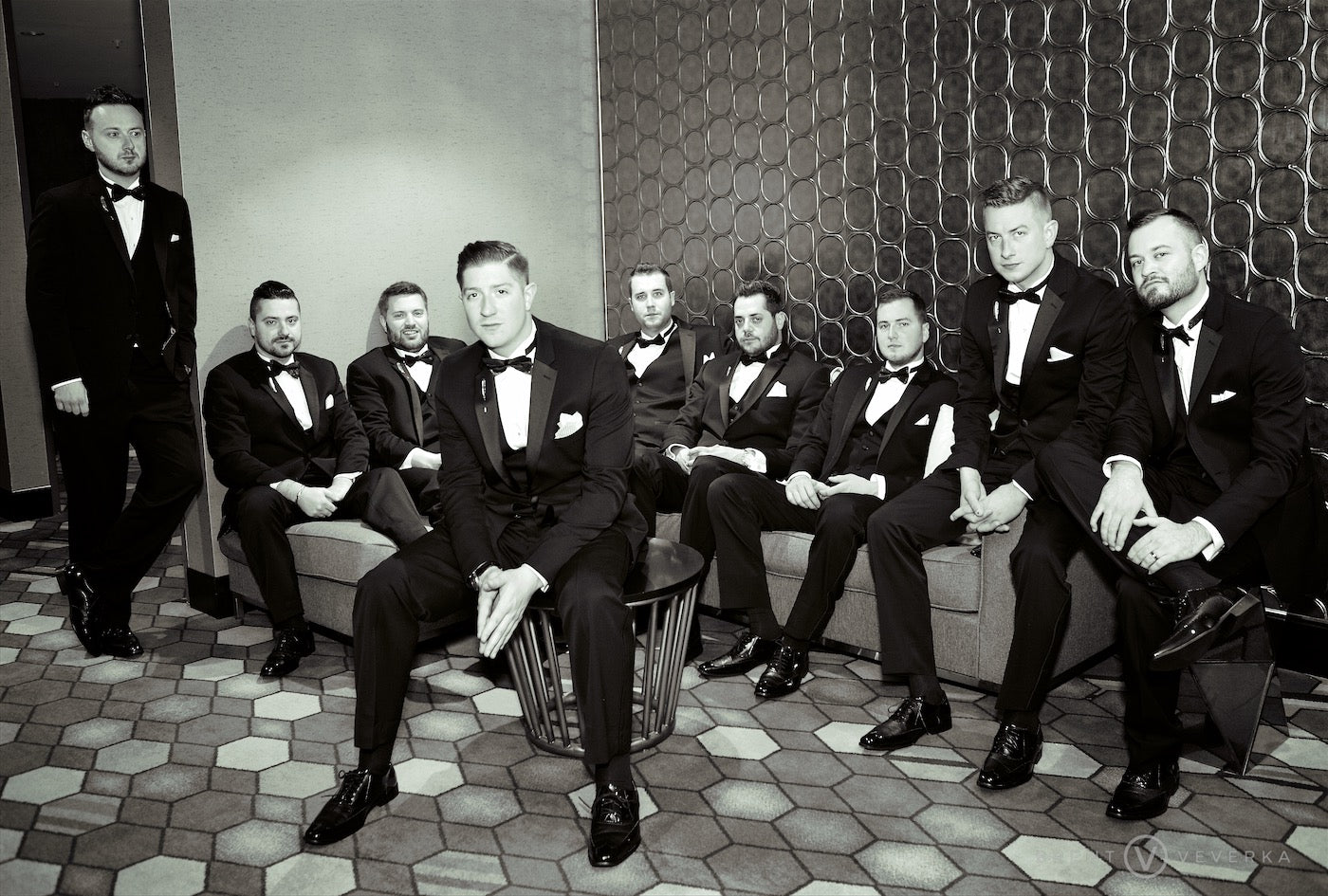 Groom and Groomsmen | Glam Speakeasy Wedding | Brent Veverka Media