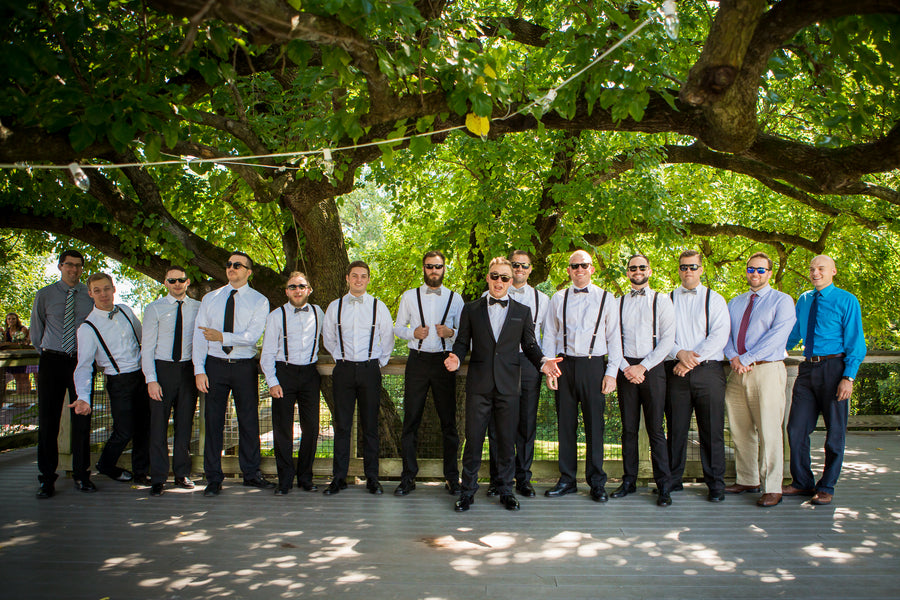Groom with Groomsmen | Purple Industrial Themed Wedding | Asteria Photography