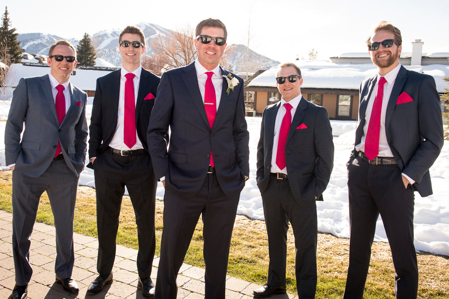 Groom and Groomsmen | A Charmingly Cozy Winter Wedding | Dev Khalsa Photography | Kate Aspen