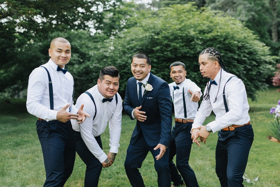 Groom and Groomsmen | A Dazzling Doughnut Wedding | Kate Aspen