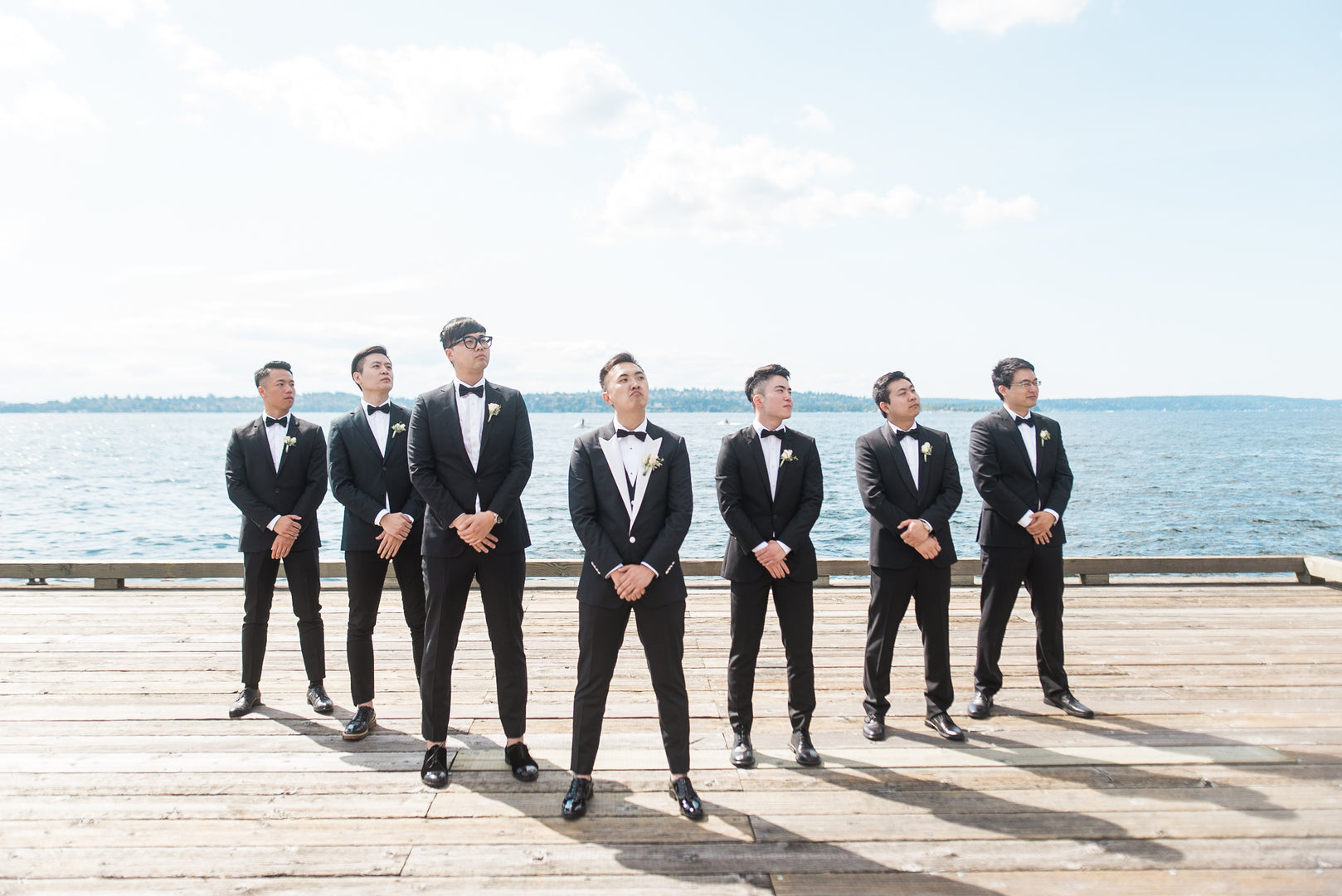 Groom and Groomsmen | A Grand Wedding On The Water | Kate Aspen