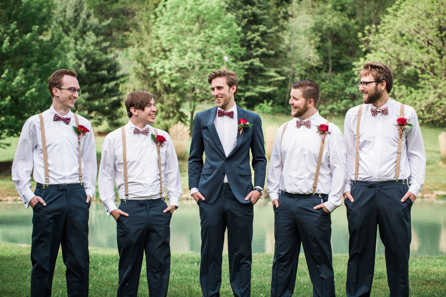 Groom and Groomsmen | Jasmine White Photography | A Fashion-Forward Floral Wedding
