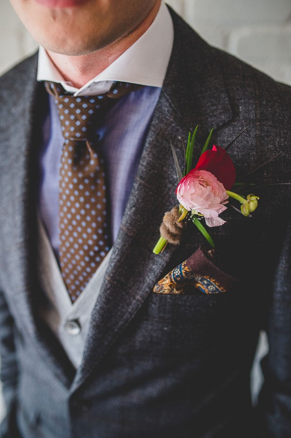 Groom's First Vintage Look | Art Deco Wedding Inspiration | Edward Lai Photography