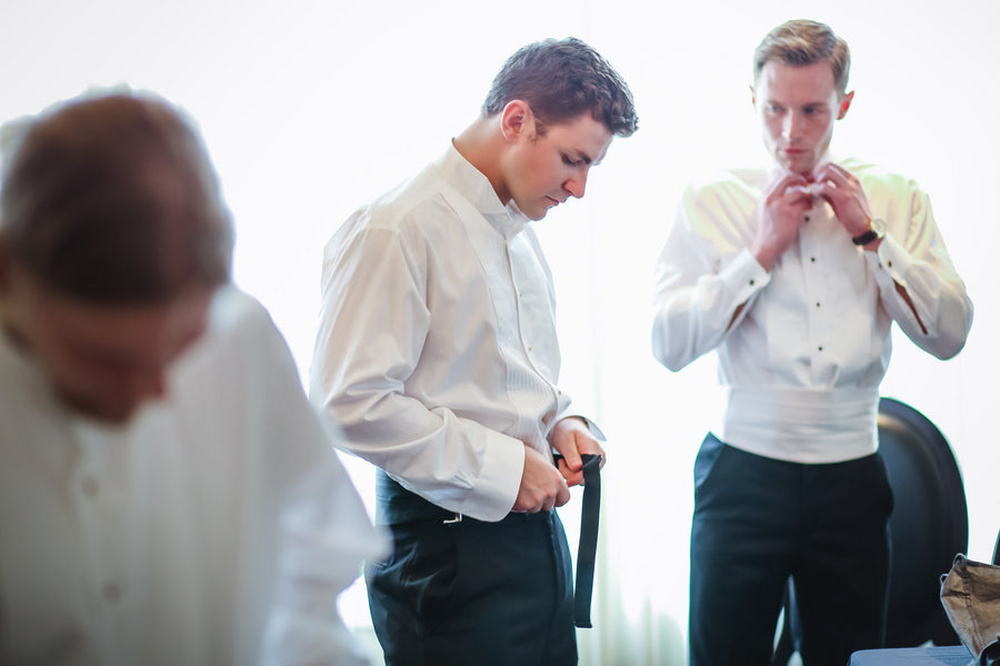 Groomsmen Getting Ready | Blush and Gold Wedding | Asteria Photography