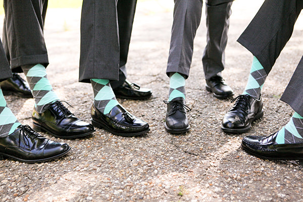 Groomsmen's Matching Socks | Wes Roberts Photography