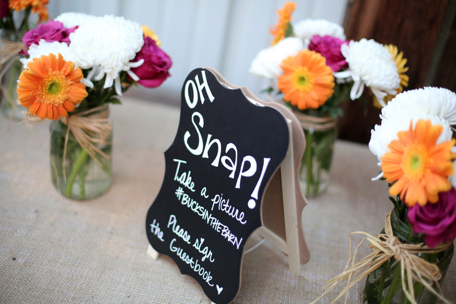 Guestbook Sign | ImpressionsPhotography | A Flannel Filled Fall Wedding | Kate Aspen