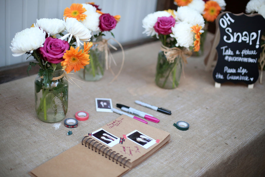 Guestbook | ImpressionsPhotography | A Flannel Filled Fall Wedding | Kate Aspen