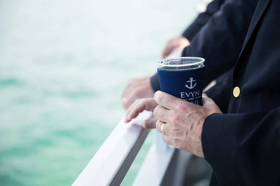 Guests Enjoying Drinks | Nautical Wedding On A Boat | Jeramie Lu Photography