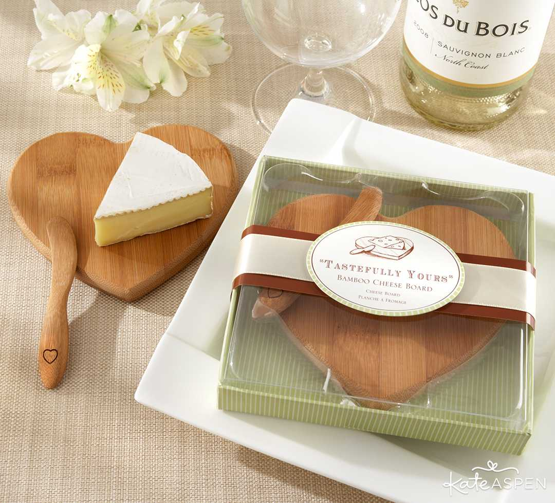 Heart Shaped Bamboo Cheese Board | Galentine's Day Gifts for Your Best Gals | Kate Aspen