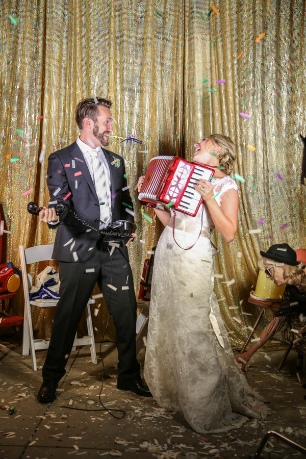 Fun Wedding Photo Booth with Props | Elizabeth Burgi Photography
