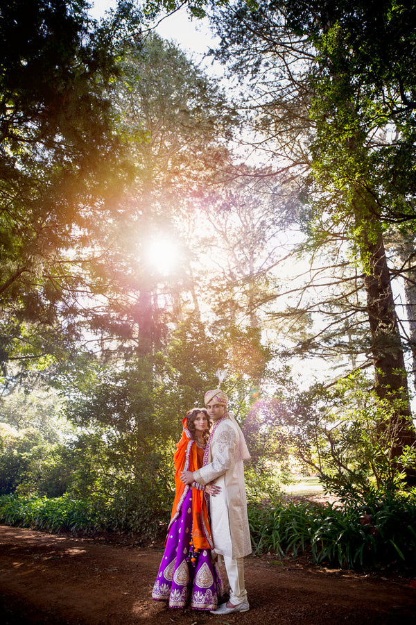 Indian Fusion Wedding Bride and Groom | Hilary Cam Photography