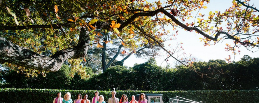 Indian Fusion Wedding Bridal Party | Hilary Cam Photography