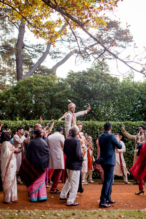 Fusion Indian Wedding Procession - Baraat | Hilary Cam Photography