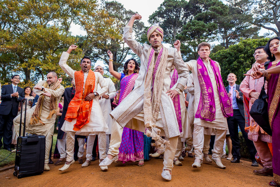 Fusion Indian Wedding Procession and Dancing - Baraat | Hilary Cam Photography
